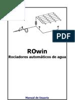 ROwin Manual de instrucciones