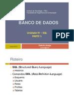 Unidade IV - SQL - Parte 1