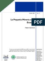 La pequeña minería en Ecuador