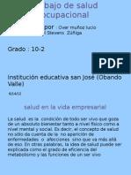 Trabajo de Salud Ocupacional Diapositivas