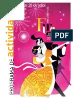 Programación de la Feria de Julio 2012.