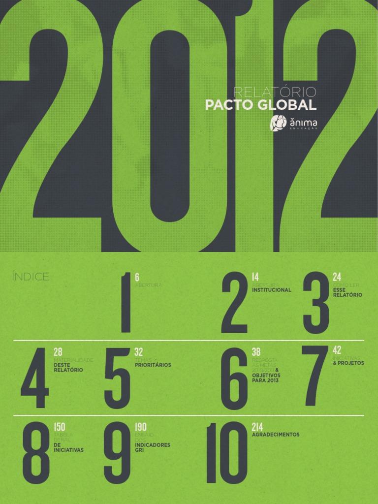 Relatório do Pacto Global 2011 2012 Ânima 672c477b6e5