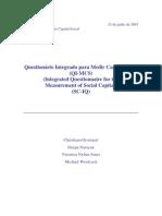 Cuestionario para medir Capital Social 2003 Banco Mundial BM