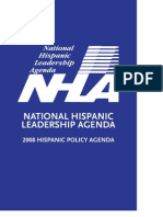 NHLA 2008 Hispanic Policy Agenda