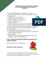 Liste du matériel scolaire 2012-13 au CAHM
