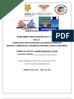 PRODUCTOS  MÓDULO 2  3° Y 4°  2012 participante PROFR GERMAN RODRIGUEZ CALZADA unitep053 ATP FJIR LXB