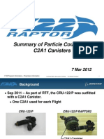 Particle Count from C2A1 Canisters