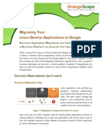 OrangeScape Solution Brief - Moving Your Lotus Applications to Google