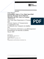 Montreal-New York VHSR Prefeasibility Study 1985