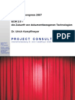 [DE] ECM 2.0 | Ulrich Kampffmeyer | SAPERION congress 2007 | Handout version