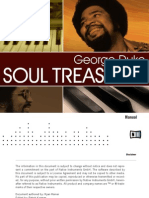 George Duke Soul Treasures Manual - English