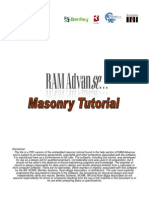 Bentley RA Masonry Tutorial With Cover