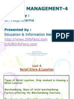 Retail Management 4 StoreAndLocation
