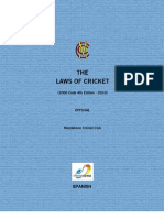 Laws of Cricket Spanish 10658