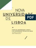 grupo de trabalho 2012_uma nova universidade de lisboa, relatório