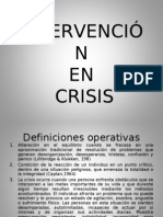 INTERVENCIÓN EN CRISIS PRESENTACIÓN HGP NOVIEMBRE 2011