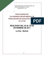 Conclusiones Del Viii Congreso Deptal Ordinario Fdteulp