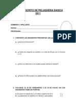 Examen Escrito de Peluqueria Basica 2011