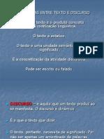 DIFERENÇAS ENTRE TEXTO E DISCURSO (2)
