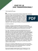 QUÉ ES LA PSICOLOGÍA Trans Personal y Analisis Transaccional