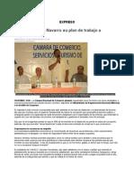 Expone Librado Navarro su plan de trabajo a empresarios