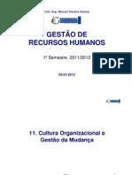 11_GRH_Cultura Organizacional e Gestão da Mudança