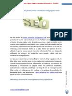Como Optimizar Una Pagina Web Determina El Futuro de Tu Sitio