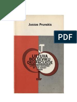 Tv Vitrine Kast.Lietuva Bolsevikų Okupacijoje Redagavo Juozas Prunskis