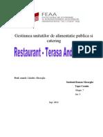 Gestiunea Unitatilor de Alimentatie Publica Si Catering