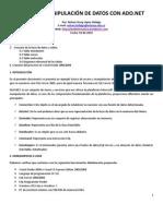 ACCESO Y MANIPULACIÓN DE  DATOS CON ADO