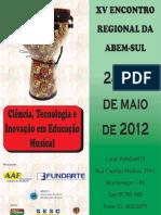 Anais XV Encontro Regional Da ABEM- SUL