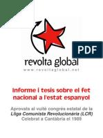 LCR - Informe y Tesis sobre la Cuestión Nacional