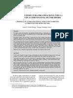 Propuesta Estructura Organizacional Para Prevencion de Accidente Sector Minero