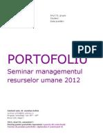 1. MRU. Seminar. Portofoliu Seminar 2012