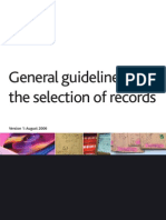 General Guidelines for the Selection of Records in UK