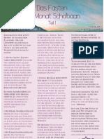 Ramadan Newsletter Nr. 3 - Scha'baan Teil 1
