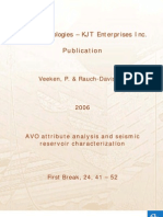 AVO Attibute Analysis Reservoir Characterization
