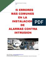 Errores Mas Comunes en La Instalacion de Alarmas Contra Intrusion