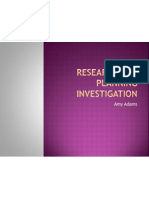 Research and Planning Investigation