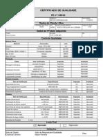 Certificado de Qualidade - Poste 14X2500