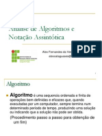 86275937 2002512593 Slide1 Introducao Analise de Algoritmos