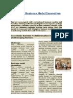 Disruptive Business Model Innovation Case Study