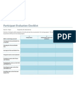 Participant Evaluation Checklist