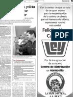 11-06-12 Cano Vélez dona frijol al Banco de Alimentos
