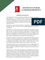 Moción en favor de la equidad impositiva (1)