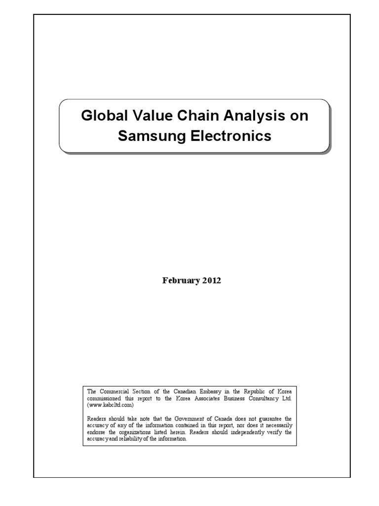 samsung electronics value chain