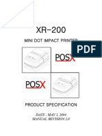 XR-200 MANUAL POS-X PRINTER