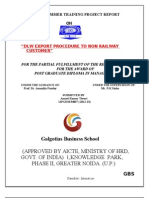 A Project Report on Dlw Export Procedure to Non Railway Customer by Anand Kumar Tiwari
