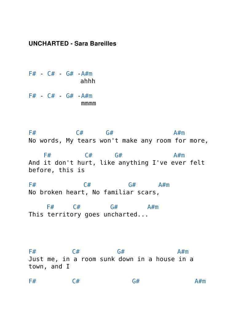 Sara Bareilles Uncharted Chords