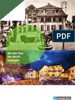 Jubiläumsbroschüre «150 Jahre Gas für Thun»